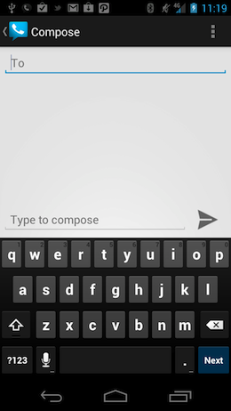 Screenshot 2012 02 07 11 20 00 Google Voice update for Android brings Ice Cream Sandwich looks, offline SMS