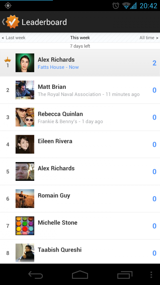 Screenshot 2012 02 19 20 42 53 520x924 Googles new Latitude Leaderboards suggest gamified check ins are coming to Google+