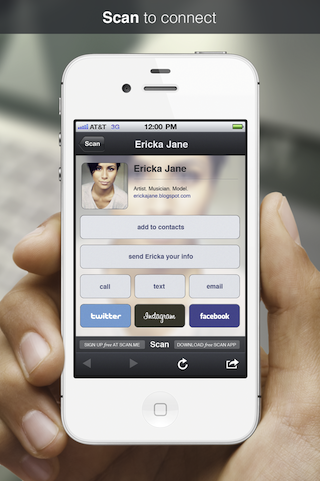 b Scan.me solves the QR code dilemma by delivering a simple, beautiful experience