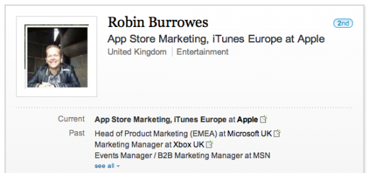 burrowes 520x244 Apple grabs another gaming executive with appointment of Xbox Live marketing chief