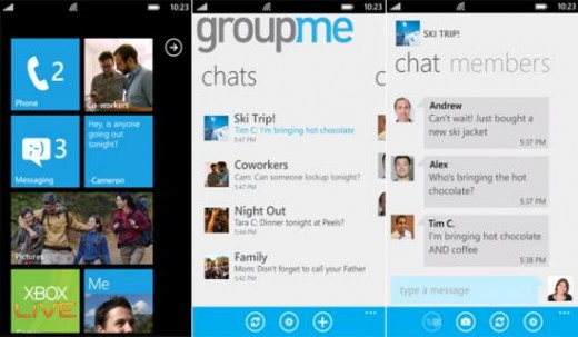 groupmeapp 520x303 GroupMe for Windows Phone makes a triumphant return with huge features