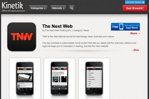 kinetik tnw 520x345 Kinetiks iPhone app recommendation engine is now on the Web too