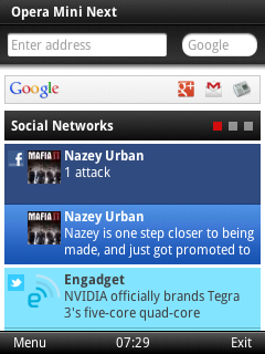 opera mini next english J2ME Smart Page Social Opera brings a more social Web experience to feature phones with Opera Mini Next