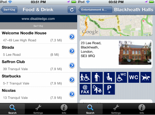 33 DisabledGo: This iPhone app gives you accessibility info for 20,000 venues across London