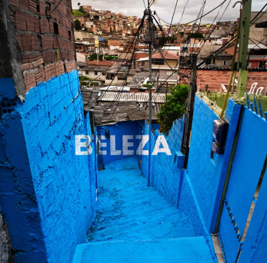 Boamistura Brasilandia Typographical Graffiti 1 520x512 How colorful typography brought beauty and pride to a Brazilian slum