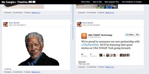 Convofy 154 1 520x259 Heres what your Google+ posts would look like in Facebooks Timeline view