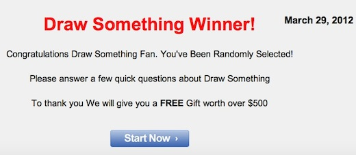 Draw Something Scam Capitalizing on Draw Somethings popularity, spammers begin targeting Twitter users