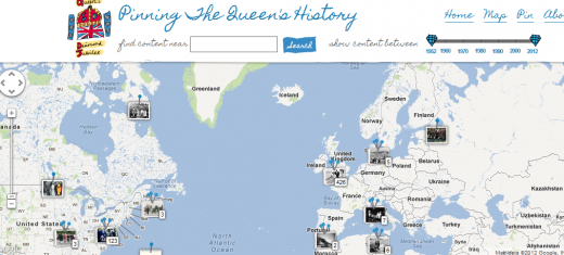 Historypin 520x235 Googles project to mark the Queen's Diamond Jubilee will let you upload and pin your own memories