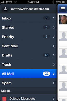 Photo Mar 14 8 42 55 PM Sparrow for iPhone is a beautiful, natural mail management experience with one major flaw