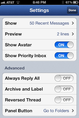 Photo Mar 14 8 46 55 PM Sparrow for iPhone is a beautiful, natural mail management experience with one major flaw