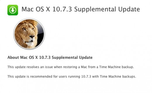 Screen Shot 2012 03 05 at 1.21.19 PM 520x318 Apple releases OS X 10.7.3 Supplemental Update fixing Time Machine restore issue