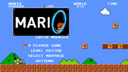 Screen Shot 2012 03 05 at 12.57.58 PM1 520x291 First reactions to Mari0: Super Mario Bros. meets Portal
