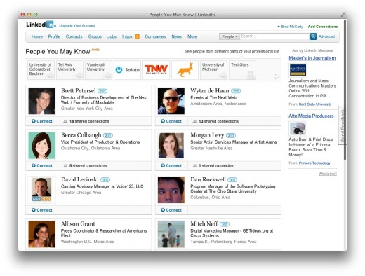 Screen Shot 2012 03 27 at 3 1.25.53 PM 520x394 LinkedIn adds even more features to its People You May Know section
