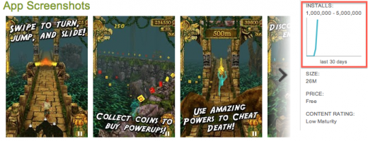 Screen Shot 2012 03 30 at 10.23.03 520x200 Temple Run gets a lot of Google Play: 1 million Android app downloads in 3 days