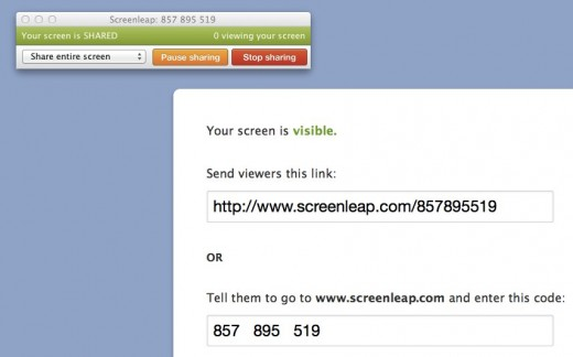Screenleap  857 895 519 520x324 Screenleap lets you share your screen with one click and no software installation