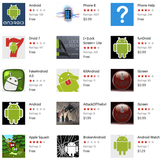 appslist android Why the Windows Phone Marketplace is looking more like a slimy app cesspool every day