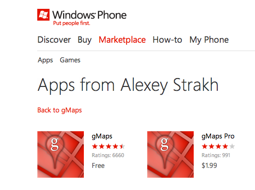 appslist dev 3 Why the Windows Phone Marketplace is looking more like a slimy app cesspool every day