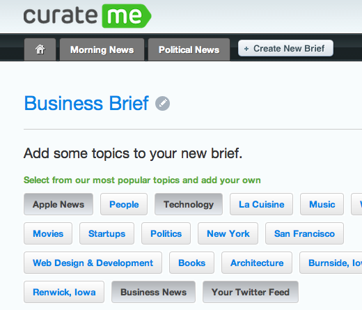 curate2 Curate.me mines Twitter, Facebook and more to email you news you actually want to read