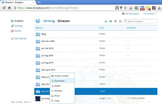 dropbox3 520x335 Dropbox revamps its Web service with a more intuitive design and support for photos