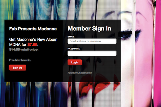 fabmadonna Madonna leverages social networks and startup Fab.com for MDNA album push