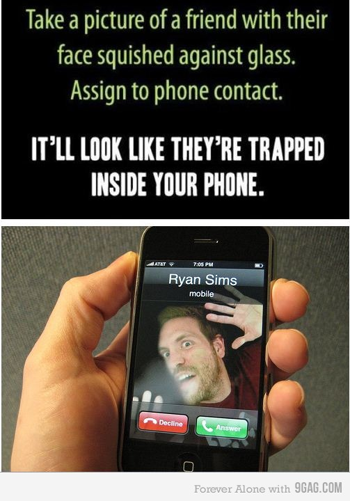 inPhone Want to trap your friends inside your phone? Heres how.