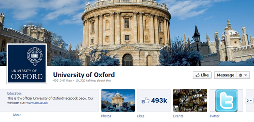 oxford UK universities trail behind their US counterparts on social platforms
