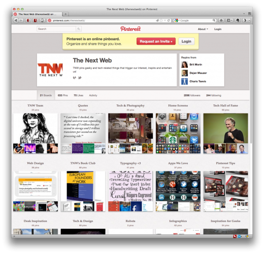 pinterest tnw 520x501 Newly redesigned Pinterest profile pages go live