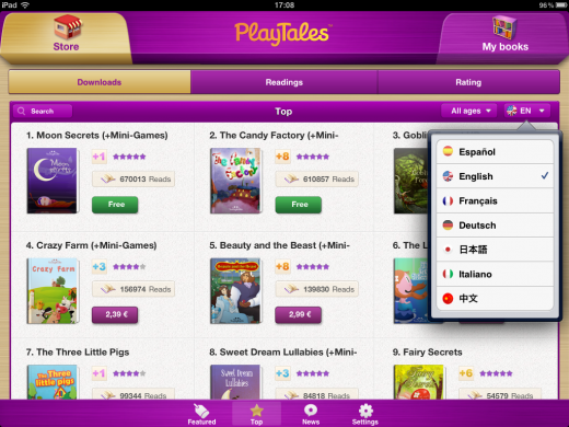 playtales store 2 520x390 PlayTales e bookstore for kids lets anyone develop and sell an interactive e book