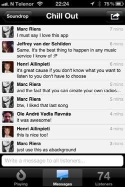 soundrop2 Soundrops addictive, Spotify powered social listening app comes to iOS