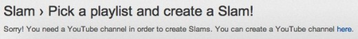 youtube slam no channel 520x58 YouTube Slam now lets you create your own video duels