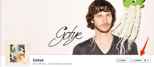 15 Gotye 520x226 Facebook launches Listen button using your favorite music service on musicians pages
