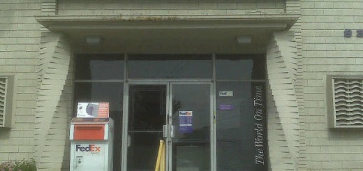the fedex office with twisty columns