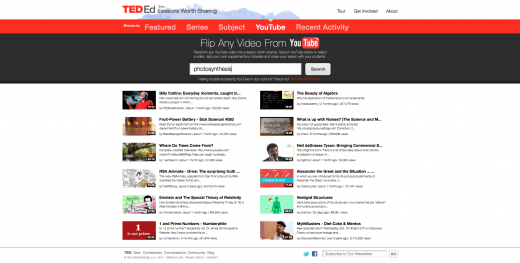 8 Flip any video from YouTube 520x263 Backed by $1.25 million, TED launches revamped education platform with customized learning tools