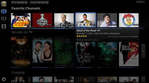 Favorite Channels Google TV 520x291 Google TV adds Trending section with suggestions based on Google search trends