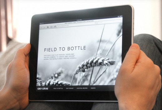 Grey Goose Tablet 1 520x352 Digital ad agency R/GA Chicago talks emerging tech, HTML5, Flash & their latest work