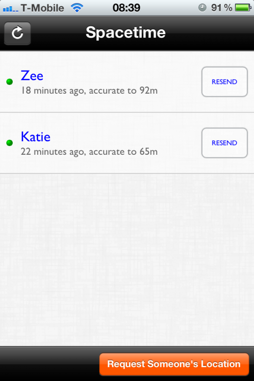 IMG 2322 520x780 Space time for iOS: The simple app that lets you request a persons location regardless of their smartphone