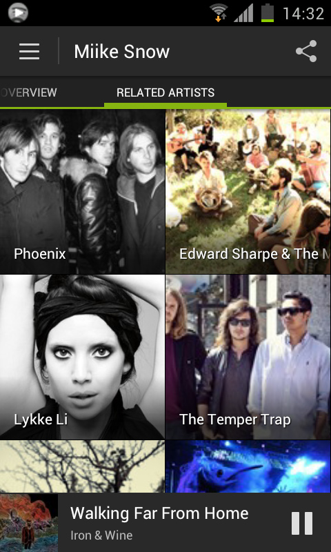 Related Artists Spotify overhauls its Android app to add ICS support, new design, increased social and more