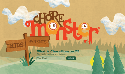 Screen Shot 2012 04 12 at 10.11.59 AM 520x308 ChoreMonster is a Web app that actually makes chores fun for kids [Invites]