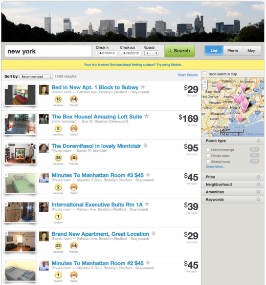 Screen Shot 2012 04 26 at 10.14.34 AM 520x556 Airbnb launches its Match service to help you book places to stay in a pinch