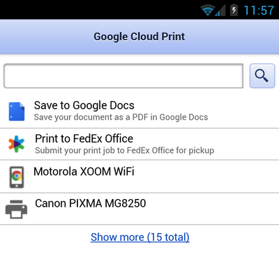 Screenshot for 4 18 GCP Blog Post Google Cloud Print now lets you print to any FedEx Office location in the US