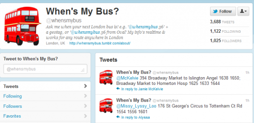 Whensbus 520x252 Whens My Bus? This Twitter bot tells you when your next London ride is due