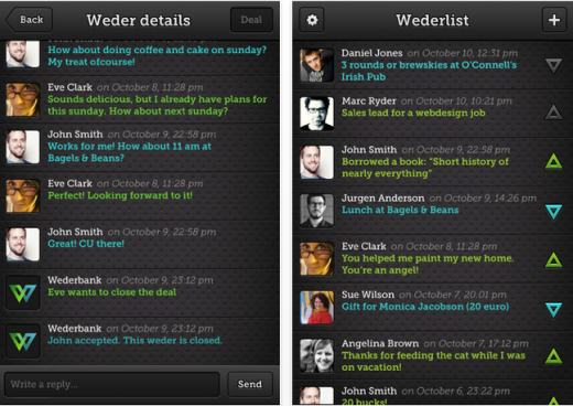 b9 520x368 Quid pro quo: Wederbank is an app for recording and tracking favors