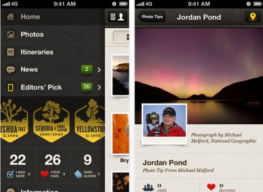 c1 520x380 National Geographic launches National Parks iOS app, guides to 20 of the USs most visited parks