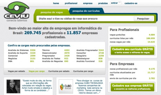 ceviu 520x306 CareerBuilder acquires Brazilian IT job board CEVIU to expand in South America