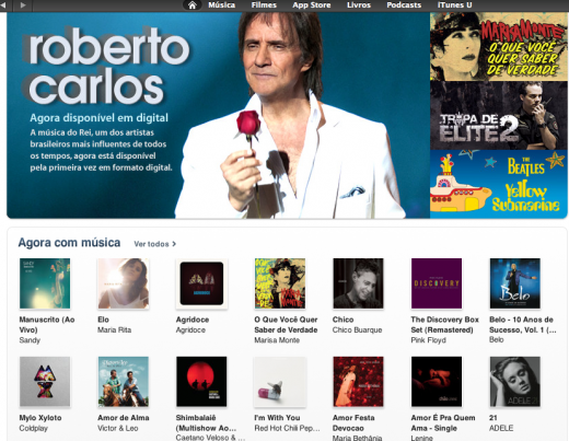 iTunes Roberto Carlos 520x403 Apples iBookstore to reportedly land in Brazil within 30 days