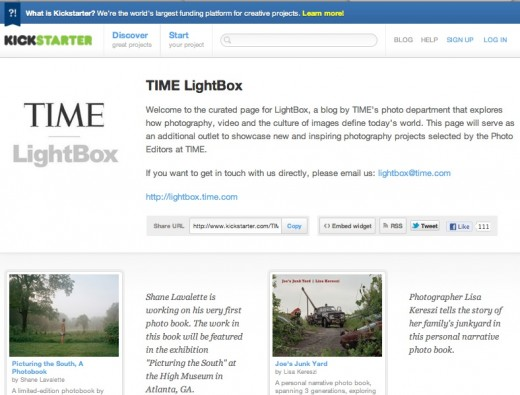 kickstarter lightbox 520x395 Why TIME LightBox set up a curated list of cool Kickstarter photo projects