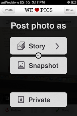 post Create a photographic timeline of your life with iPhone app WeHeartPics