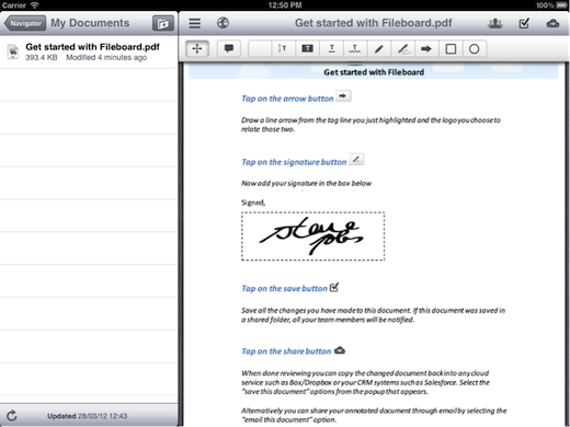 sign contracts After selling Inbox2 tech, founders return with cloud file management app for iPad