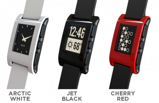 trio2 520x338 The Pebble is a slick e paper smartwatch that connects to iPhone or Android