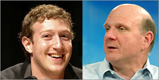 zuckerberg ballmer Microsoft vs.Facebook – Who got the better bang for their billion?